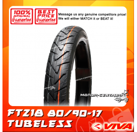 VIVA TUBELESS TYRE FT218 80/90-17
