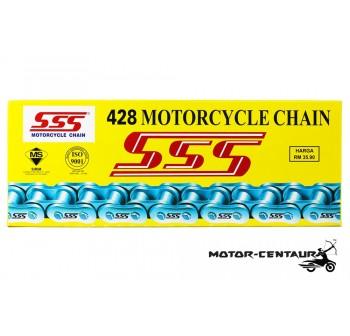 SSS CHAIN AND STEEL SPROCKETS DRIVE KIT 428 X 132L / 15T / 42T MODENAS JAGUH