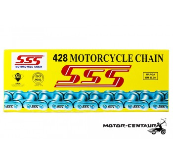 SSS CHAIN AND STEEL SPROCKETS DRIVE KIT 428 X 120L / 15T / 38T YAMAHA Y125ZR, RXZ