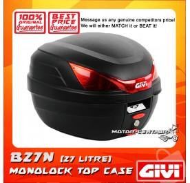 GIVI MONOLOCK TOP CASE (WITHOUT BRAKE LIGHT) CLACK B27N BLACK