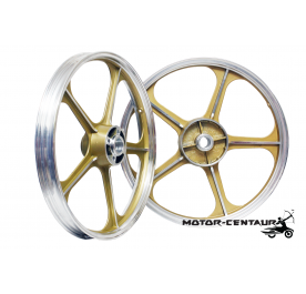 KAWA-GTO SPORT RIMS SET 555 1.40X17(F) 1.60X17(R) FOR SUZUKI RG GOLD