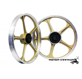 KAWA-GTO SPORT RIMS SET 555 1.40X17(F) 1.60X17(R) FOR HONDA WAVE 110 GOLD