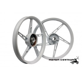 KAWA-GTO SPORT RIMS SET 588 1.40X17(F) 1.60X17(R) FOR HONDA EX5 WHITE