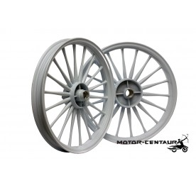 KAWA-GTO SPORT RIMS SET 188 1.60X17(F) 1.85X17(R) FOR MODENAS KRISS 2 WHITE