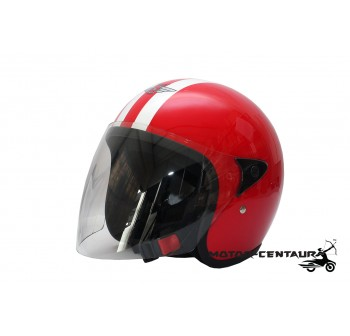 SGV HELMET RETRO VISOREX RED