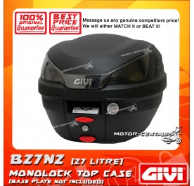 GIVI MONOLOCK TOP CASE (WITHOUT BRAKE LIGHT) CLACK B27N2 BLACK [NO PLATE INCLUDED]
