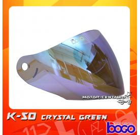 BOGO VISOR K50 (KHI) CRYSTAL GREEN
