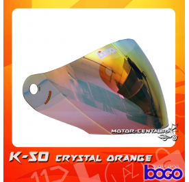 BOGO VISOR K50 (KHI) CRYSTAL ORANGE