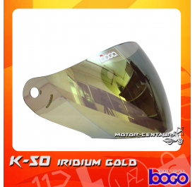 BOGO VISOR K50 (KHI) IRIDIUM GOLD