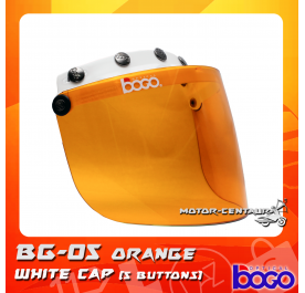 BOGO VISOR BG-05 ORANGE, 5 BUTTONS WHITE-CAP