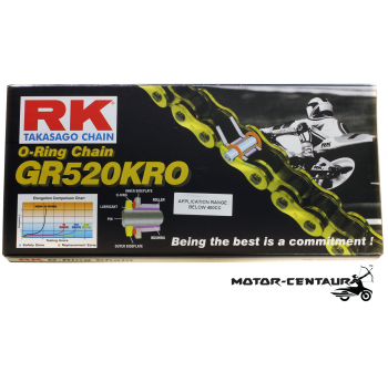 RK GOLD O-RING CHAIN GR520KRO X 120L