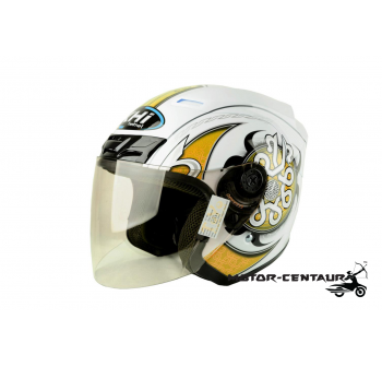 KHI HELMET DC06 WHITE-YELLOW