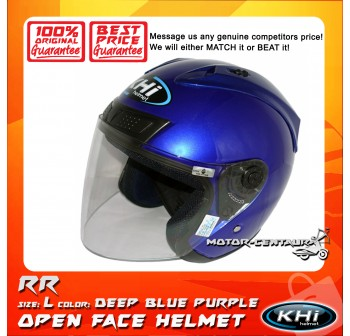 KHI HELMET RR DEEP BLUE PURPLE