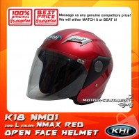 KHI HELMET K18 NM01 CANDY RED