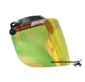 BIKKO VISOR BKK-05 CRYSTAL YELLOW, BLACK-CAP