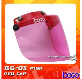 BOGO VISOR BG-05 PINK, RED-CAP