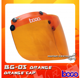 BOGO VISOR BG-05 ORANGE, ORANGE-CAP