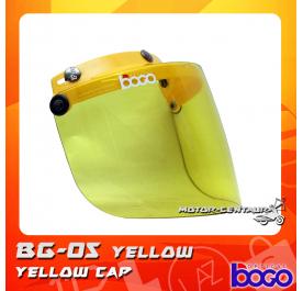 BOGO VISOR BG-05 YELLOW, YELLOW-CAP