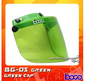 BOGO VISOR BG-05 GREEN, GREEN-CAP
