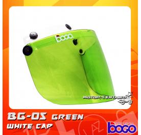 BOGO VISOR BG-05 GREEN, WHITE-CAP