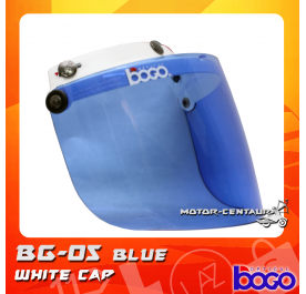 BOGO VISOR BG-05 BLUE, WHITE-CAP