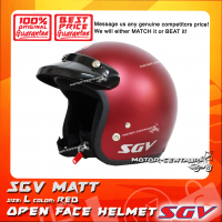 SGV HELMET MATT RED