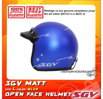 SGV HELMET MATT BLUE