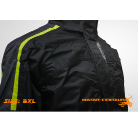 GIVI COMFORT RAINSUIT CRS01 3XL BLACK-YELLOW
