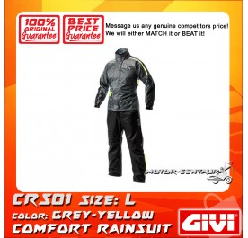 GIVI COMFORT RAINSUIT CRS01 L GREY-YELLOW