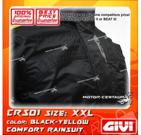 GIVI COMFORT RAINSUIT CRS01 XXL BLACK-YELLOW