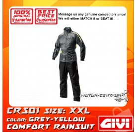 GIVI COMFORT RAINSUIT CRS01 XXL GREY-YELLOW