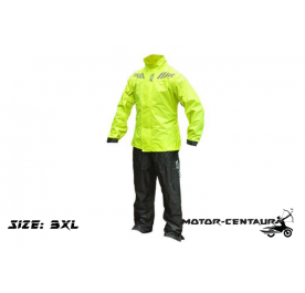 GIVI RIDER TECH RAINSUIT RRS05 3XL HIGH VISIBILITY YELLOW