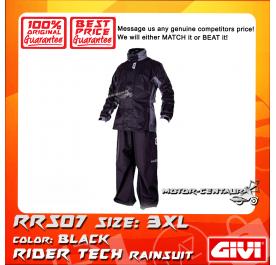 GIVI RIDER TECH RAINSUIT RRS07 3XL BLACK-GREY