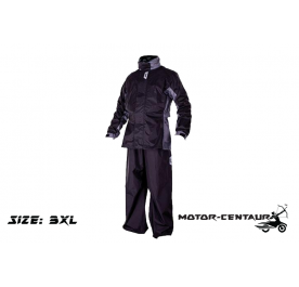 GIVI RIDER TECH RAINSUIT RRS07 3XL BLACK-GREY
