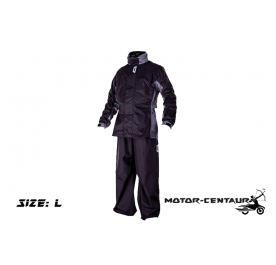 GIVI RIDER TECH RAINSUIT RRS07 L BLACK-GREY
