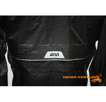GIVI RIDER TECH RAINSUIT RRS07 L BLACK-GREY