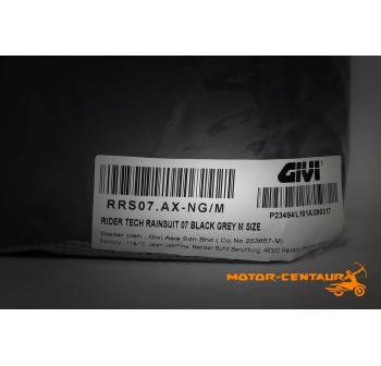 GIVI RIDER TECH RAINSUIT RRS07 M BLACK-GREY