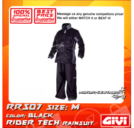 GIVI RIDER TECH RAINSUIT RRS07 M BLACK-GREY