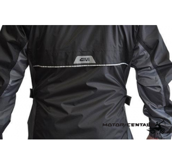 GIVI RIDER TECH RAINSUIT RRS07 XL BLACK-GREY