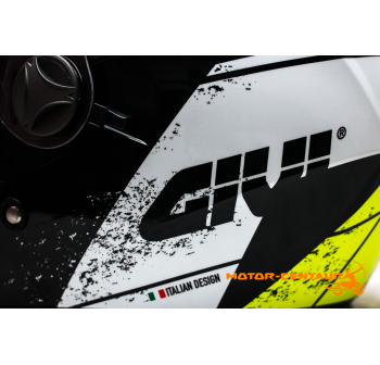 GIVI JET HELMET M30.2 PRESTO L GRAPHIC RACING BLACK