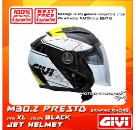 GIVI JET HELMET M30.2 PRESTO XL GRAPHIC RACING BLACK