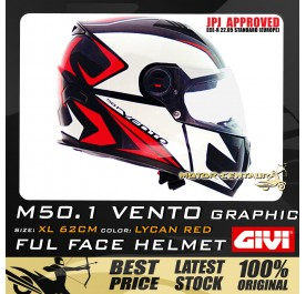 GIVI FULL FACE HELMET M50.1 VENTO XL GRAPHIC LYCAN RED
