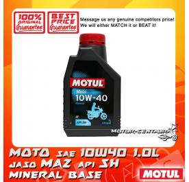 MOTUL 4T ENGINE LUBRICANT MOTO SAE 10W40 1.0L
