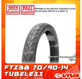 VIVA TUBELESS TYRE FT238 70/90-14