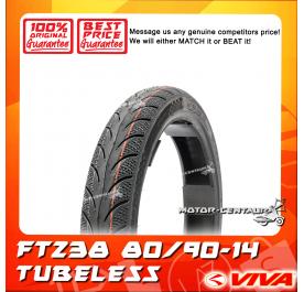 VIVA TUBELESS TYRE FT238 80/90-14