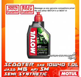 MOTUL 4T ENGINE LUBRICANT SCOOTER EXPERT 10W40 1.0L