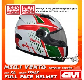 GIVI FULL FACE HELMET M50.1 VENTO XL GRAPHIC TECHNO ITALY