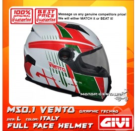 GIVI FULL FACE HELMET M50.1 VENTO L GRAPHIC TECHNO ITALY