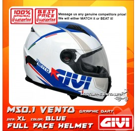 GIVI FULL FACE HELMET M50.1 VENTO XL GRAPHIC DART BLUE