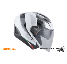 GIVI JET HELMET M30.3 D-VISOR XL GRAPHIC SPEED WHITE
